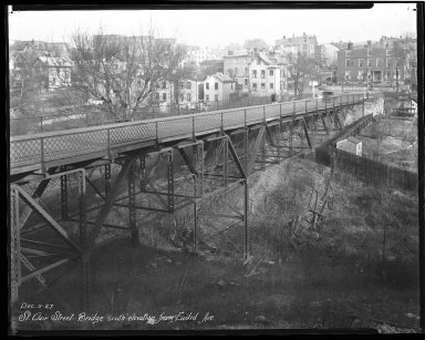 Street Improvement Photographs -- Box 44, Folder 28 (St. Clair Street Bridge) -- negative, 1927-12-05