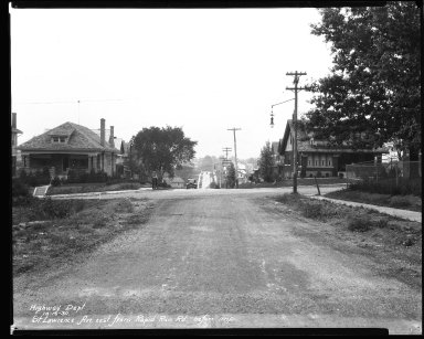 Street Improvement Photographs -- Box 44, Folder 30 (St. Lawrence Avenue) -- negative, 1930-10-10