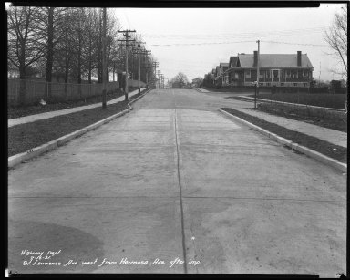 Street Improvement Photographs -- Box 44, Folder 30 (St. Lawrence Avenue) -- negative, 1931-02-16