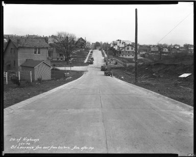 Street Improvement Photographs -- Box 44, Folder 30 (St. Lawrence Avenue) -- negative, 1932-01-20
