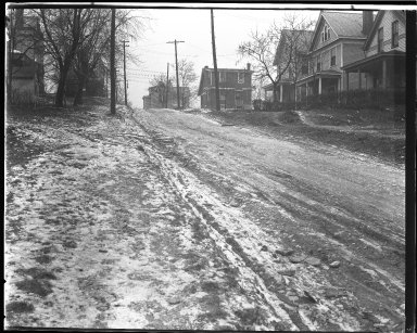 Street Improvement Photographs -- Box 44, Folder 31 (St. Lawrence Avenue) -- negative, 1930