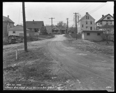 Street Improvement Photographs -- Box 44, Folder 32 (Saxon Avenue) -- negative, 1929-03-26