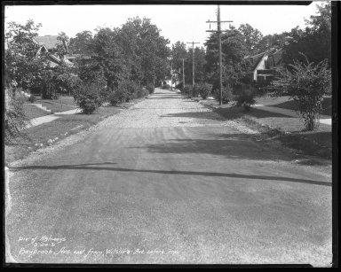 Street Improvement Photographs -- Box 44, Folder 33 (Saybrook Avenue) -- negative, 1931-09-24