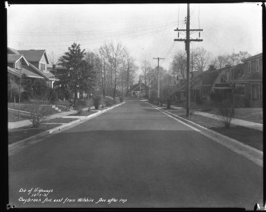 Street Improvement Photographs -- Box 44, Folder 33 (Saybrook Avenue) -- negative, 1931-12-17