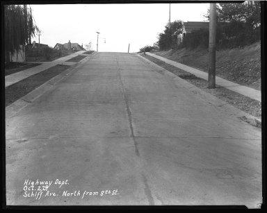 Street Improvement Photographs -- Box 44, Folder 34 (Schiff Avenue) -- negative, 1929-10-02