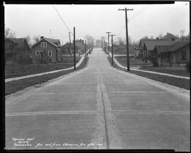 Street Improvement Photographs -- Box 44, Folder 36 (Schwartz Avenue) -- negative, 1931-02-06
