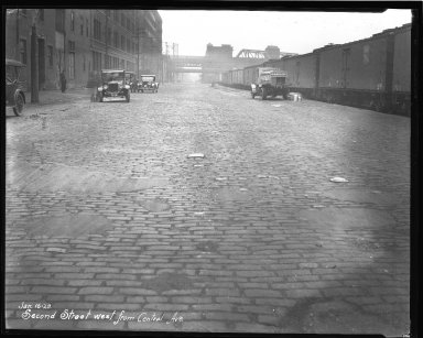 Street Improvement Photographs -- Box 44, Folder 38 (Second Street) -- negative, 1928-01-16