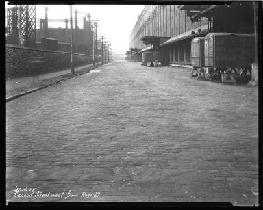 Street Improvement Photographs -- Box 44, Folder 38 (Second Street) -- negative, 1928-01-16