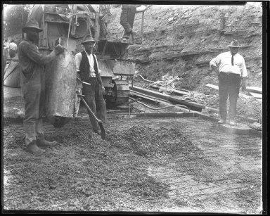 Street Improvement Photographs -- Box 44, Folder 39 (Seeger Street) -- negative, 1927
