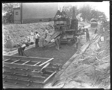 Street Improvement Photographs -- Box 44, Folder 39 (Seeger Street) -- negative, 1927