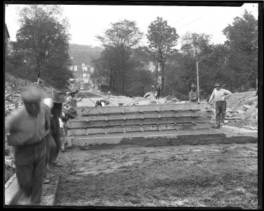 Street Improvement Photographs -- Box 44, Folder 40 (Seeger Street) -- negative, 1927