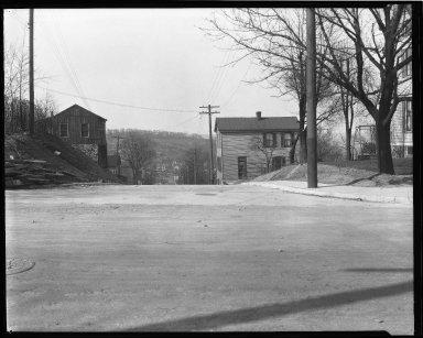 Street Improvement Photographs -- Box 44, Folder 41 (Seeger Street) -- negative, 1927