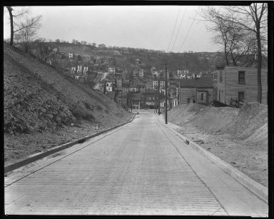 Street Improvement Photographs -- Box 44, Folder 42 (Seeger Street) -- negative, 1927