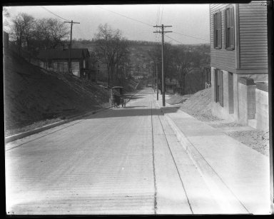 Street Improvement Photographs -- Box 44, Folder 42 (Seeger Street) -- negative, 1927