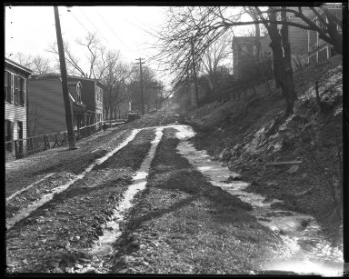 Street Improvement Photographs -- Box 44, Folder 43 (Seeger Street) -- negative, 1927