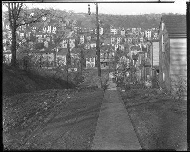 Street Improvement Photographs -- Box 44, Folder 43 (Seeger Street) -- negative, 1927