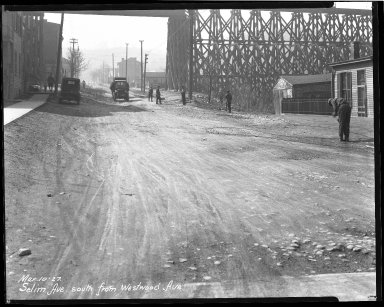 Street Improvement Photographs -- Box 44, Folder 44 (Selim Avenue) -- negative, 1927-03-10