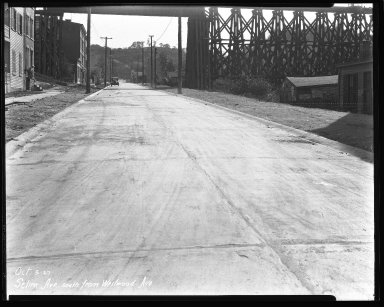 Street Improvement Photographs -- Box 44, Folder 44 (Selim Avenue) -- negative, 1927-10-03