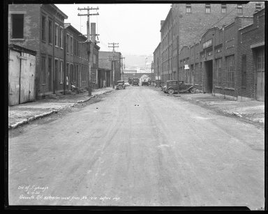 Street Improvement Photographs -- Box 44, Folder 46 (Seventh Street) -- negative, 1932-06-16