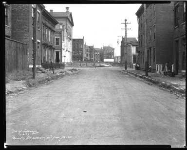 Street Improvement Photographs -- Box 44, Folder 46 (Seventh Street) -- negative, 1932-10-03