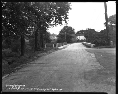 Street Improvement Photographs -- Box 44, Folder 49 (Seventy-First Street Bridge) -- negative, 1943-08-10