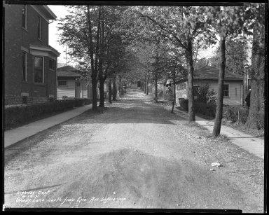 Street Improvement Photographs -- Box 44, Folder 51 (Shady Lane) -- negative, 1931-04-29