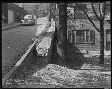 Street Improvement Photographs -- Box 44, Folder 54 (Shea Place (wall)) -- negative, 1946-01-19
