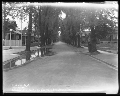 Street Improvement Photographs -- Box 44, Folder 55 (Sheehan Avenue) -- negative, 1930-05-17