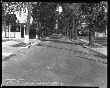 Street Improvement Photographs -- Box 44, Folder 55 (Sheehan Avenue) -- negative, 1930-10-09