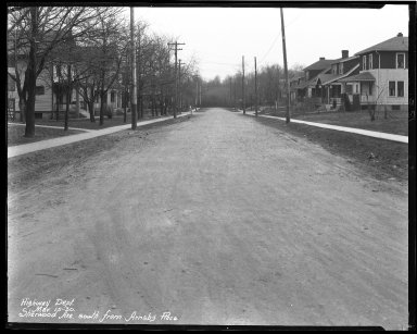 Street Improvement Photographs -- Box 44, Folder 58 (Sherwood Avenue) -- negative, 1930-03-15