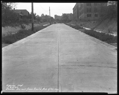 Street Improvement Photographs -- Box 44, Folder 59 (Shields Avenue) -- negative, 1930-08-04