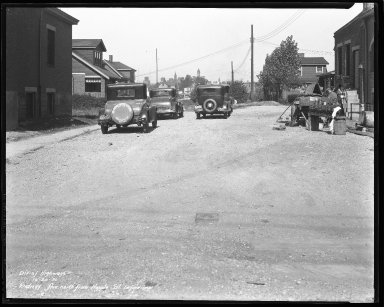 Street Improvement Photographs -- Box 44, Folder 60 (Sidney Avenue) -- negative, 1931-10-20