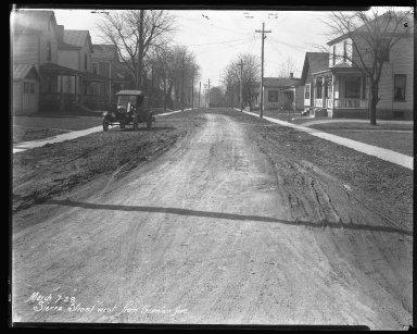Street Improvement Photographs -- Box 44, Folder 61 (Sierra Street) -- negative, 1928-03-07
