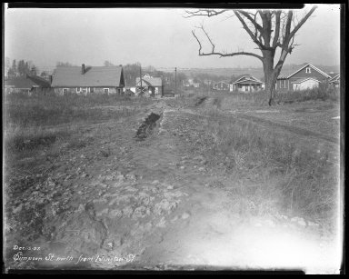Street Improvement Photographs -- Box 44, Folder 63 (Simpson Avenue) -- negative, 1927-12-05
