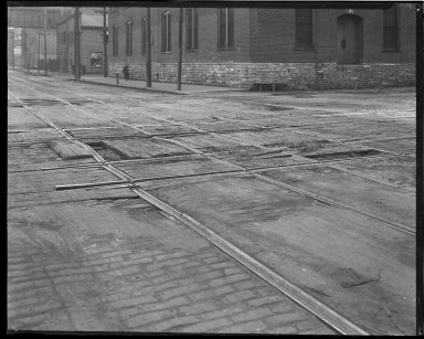Street Improvement Photographs -- Box 45, Folder 02 (Sixth Street) -- negative, 1924