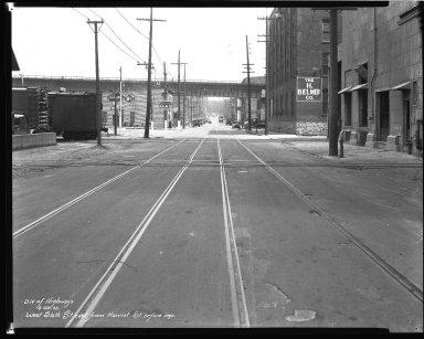 Street Improvement Photographs -- Box 45, Folder 05 (Sixth Street) -- negative, 1935-04-22