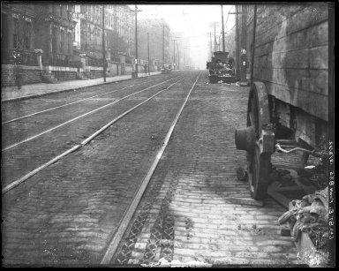 Street Improvement Photographs -- Box 45, Folder 06 (Sixth Street) -- negative, 1923-12-03