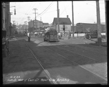 Street Improvement Photographs -- Box 45, Folder 06 (Sixth Street) -- negative, 1926-10-04
