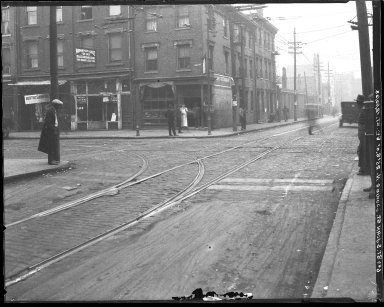 Street Improvement Photographs -- Box 45, Folder 06 (Sixth Street) -- negative, 1923-12-12