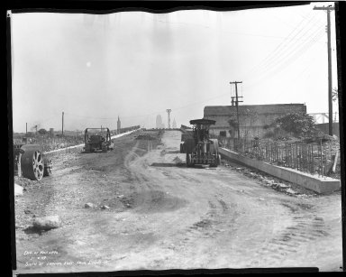 Street Improvement Photographs -- Box 45, Folder 08 (Sixth Street Viaduct) -- negative, 1939-10-02
