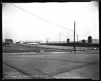 Street Improvement Photographs -- Box 45, Folder 09 (Sixth Street Viaduct) -- negative, 1940-03-07