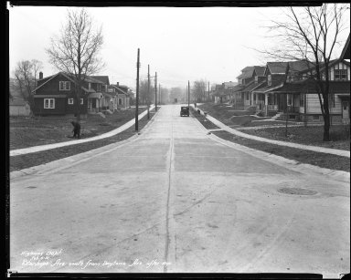 Street Improvement Photographs -- Box 45, Folder 22 (Stanhope Avenue) -- negative, 1931-02-06