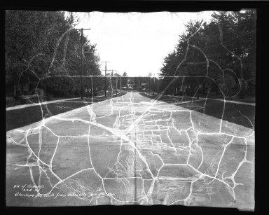 Street Improvement Photographs -- Box 45, Folder 22 (Stanhope Avenue) -- negative, 1939-09-24