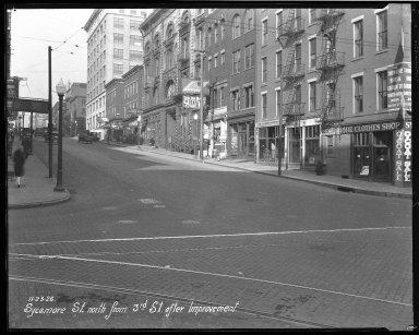 Street Improvement Photographs -- Box 45, Folder 38 (Sycamore Street) -- negative, 1926-11-23