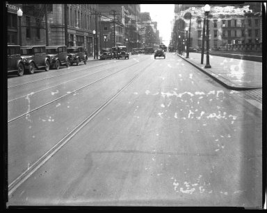 Street Improvement Photographs -- Box 45, Folder 38 (Sycamore Street) -- negative, 1928