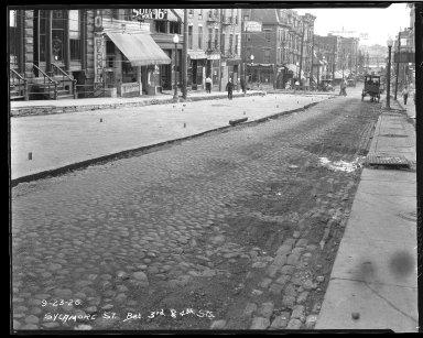 Street Improvement Photographs -- Box 45, Folder 38 (Sycamore Street) -- negative, 1926-09-23