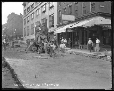 Street Improvement Photographs -- Box 45, Folder 38 (Sycamore Street) -- negative, 1926-09-23