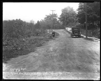 Street Improvement Photographs -- Box 45, Folder 39 (Sylvan Avenue) -- negative, 1929-10-03