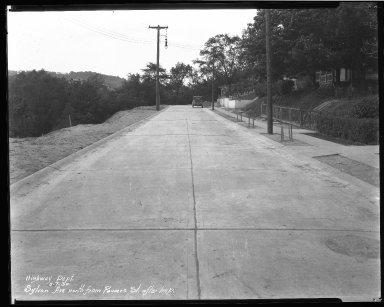 Street Improvement Photographs -- Box 45, Folder 39 (Sylvan Avenue) -- negative, 1930-05-07