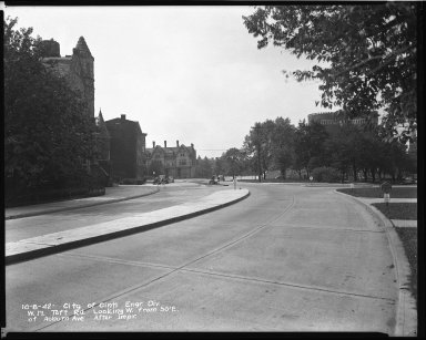 Street Improvement Photographs -- Box 45, Folder 44 (William H. Taft Road) -- negative, 1942-10-08